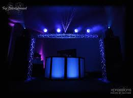 Truss Lighting Blue Lighting With Truss And Laser From Dj Fox Entertainment Ohio