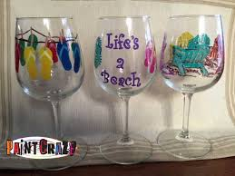 wine and painting chicago paint craze summer themed winebeer glass