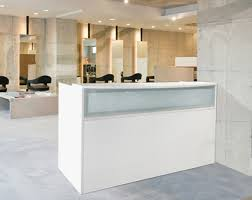 Salon Reception Desk White White Salon Reception Desk