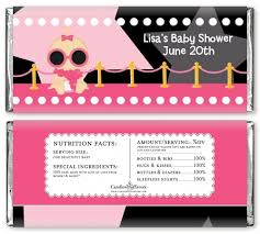 a star is born hollywood black pink baby shower candy bar wrappers