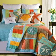 beach themed quilts home u003e washed ashore beach themed quilt