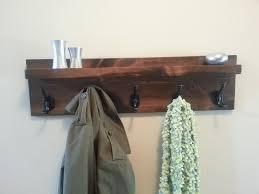 coastal oak designs rustic modern hanging coat rack u2013 built for you