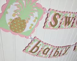 tropical baby shower banner diy printable pineapple baby