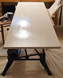 Build A Wood Table Top by Remodelaholic How To Build A Desk With Wood Top And Metal Legs