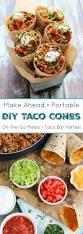 diy ta cones fun healthy u0026 portable taco cones two healthy