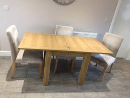 Extendable Dining Table And 4 Chairs Next Malvern 4 6 Seater Extendable Dining Table With Chairs And