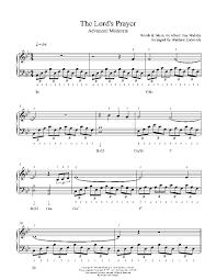 the lord u0027s prayer by albert hay malotte piano sheet music