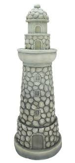 northlight inspired lighthouse outdoor patio garden statue