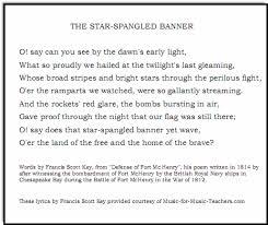 Star Light Star Bright Lyrics Star Spangled Banner Free Sheet Music U0026 Lyrics For All Instruments