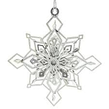 snowflake ornaments twinkling snowflake ornament chemart ornaments solid brass