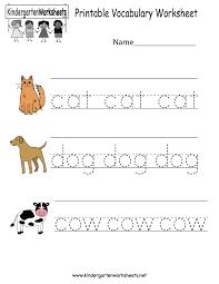 kindergarten english worksheets worksheets