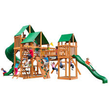 gorilla playsets treasure trove with amber posts and deluxe green