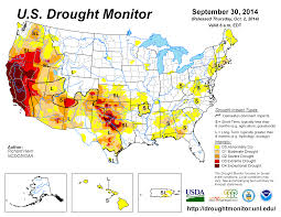california map drought september 2014 drought and impact summary