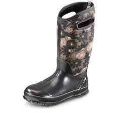 motorcycle rain boots bogs women u0027s classic watercolor insulated rubber boots 655422