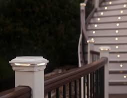 trex post cap lights keep your deck safe at night with trex s deck rail lights and post