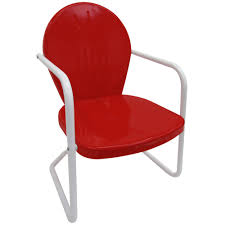 Patio Chair Material by Leigh Country Retro Red Metal Patio Lawn Chair Tx 93486 The Home