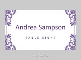 wedding place card template size wedding o