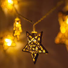 battery operated star lights novelty lights battery operated led golden metal star string