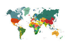world map with country names vector detailed world map with borders and country names