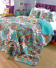 turquoise quilted coverlet paisley moroccan quilts bedspreads coverlets ebay
