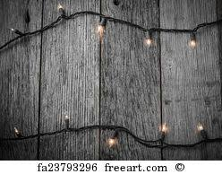 rustic wood artwork free print of white tree lights with rustic wood