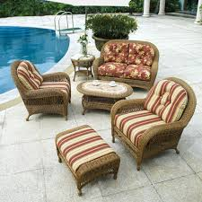 Replacement Cushions For Wicker Patio Furniture by Furniture Cream And Stripe Ivor Red Design Tufted Wicker Chair
