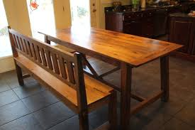 Oak Dining Furniture Spanish Trestle Oak Dining Table And Bench Reclaimed Wood