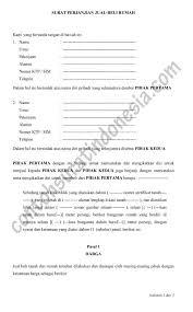 format surat kuasa jual beli rumah surat perjanjian jual beli rumah secara tunai