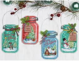 dimensions jar ornaments cross stitch kit 70 08964