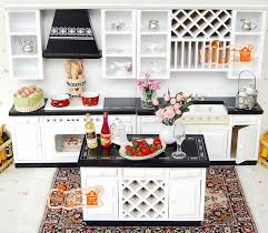 dolls house kitchen furniture 1 12 scale doll house furniture miniature white and black modern