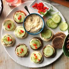 cucumber canapes recipe taste of home