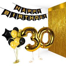 50th birthday party supplies event party supplies black and gold 70th birthday party pack