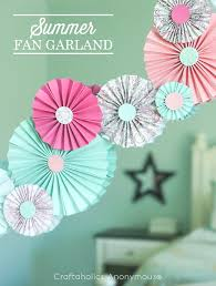 paper fan craftaholics anonymous paper fan garland tutorial