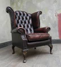 Leather Chesterfield Style Sofa Vintage Chesterfield Oxblood Leather Wingback