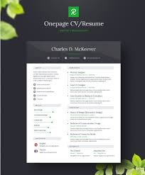 Free One Page Resume Template 130 New Fashion Resume Cv Templates For Free Download 365 Web