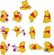 winnie pooh vector material free vector scrapbook disney