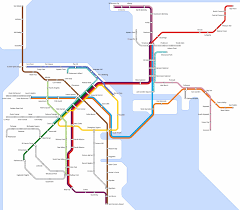 San Francisco Transportation Map by San Francisco Transit Martin Atkins