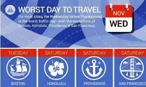 best times for safe thanksgiving road travel insure info