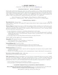 Business Analyst Objective In Resume Sample Business Analyst Resumes U2013 Topshoppingnetwork Com