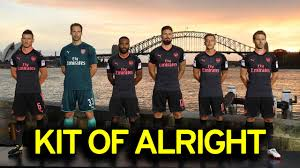arsenal unveil new black and pink third kit in sydney as arsene