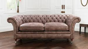 canape style chesterfield sofa leather 2 seater brown drummond