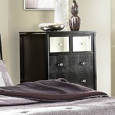 amazon com homelegance jacqueline mirrored drawer front chest in amazon com homelegance jacqueline mirrored drawer front chest in black faux alligator kitchen dining