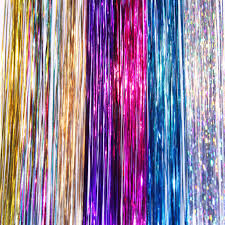 colors splash hair tinsel add a flair 7 colors splash of fantasy