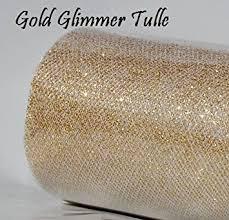 glitter tulle wedding glitter tulle roll 6in x 30ft gold sparkling