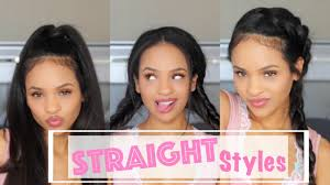 simple casual hairstyles for straightened natural hair youtube