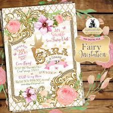 Invitation Cards Of Birthday Party Fairy Invitation Fairy Birthday Invitation Vintage Fairy