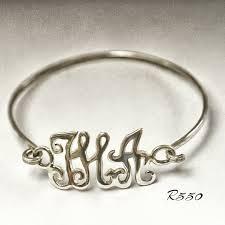 Monogrammed Bangle Bracelet Monogram Bangle Gina Kruger Jewellery Designs