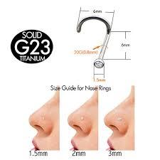 nose rings titanium images Oufer 20g grade 23 solid titanium no allergy nose jpg