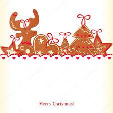 merry christmas greeting card design christmas cookie u2014 stock