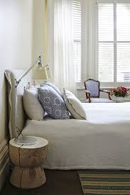 Bed Linen And Curtains - dreamy master bedroom with ivory sheer linen curtains caravane